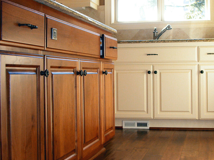 Fine Painting & General Services Inc finishes cabinets