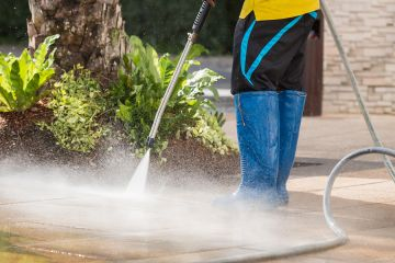 Beachmont Pressure washing by Fine Painting & General Services Inc
